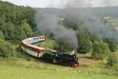 Nejmenší oblouk načeských železnicích svýletním vlakem SZD