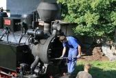 Než se parní lokomotiva odstaví, dáto ještě zabrat