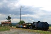 Výletní vlak sU57.001 aTU38.001 včele veSlezských Rudolticích