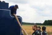 Přidobírání vody opět asistovali dobrovolní hasiči zBohušova