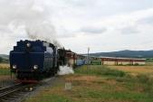 Parní vlak předSlezskými Rudolticemi