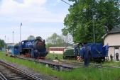 Skládání lokomotivy znormálněrozchodného vozu, 14.5.2009