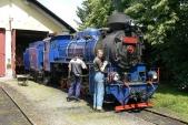 Příprava lokomotivy U57.001 nazpáteční cestu vOsoblaze
