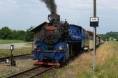 Zvláštní vlak slokomotivou U57.001 vBohušově