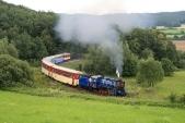 Známý nejmenší oblouk nasíti českých železnic svýletním vlakem SZD