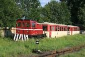 Další nezvyklá kombinace, lokomotiva TU29.014 JHMD svagony Balm/ú Českých drah