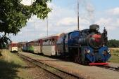 Křižování osobního vlaku ČD avýletního vlaku SZD veSlezských Rudolticích