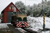 Zimní nálada slokomotivou TU38.001 předdepem vTřemešné
