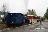 Zvláštní vlak provedení ČD čeká nasvůj odjezd vTřemešné veSlezsku