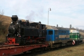 Lokomotivy U46.002, 720039 a710682 učelní rampy vTřemešné