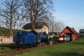 U57.001 a TU38.001 se soupravou SZD v Třemešné ve Slezsku