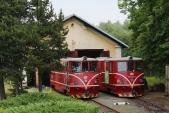 Vpátek 18.6. se naskytla možnost vyfotit momentálně jediné dvě místní lokomotivy 705.9 Českých drah. Předvýtopnou vOsoblaze byly zvěčněny 705 916 a917