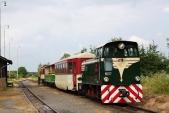 Podobu červnových vlaků dokumentuje fotografie zpátku 18.6. svýletním vlakem vLiptani