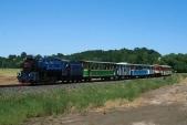 Výletní vlak sU57.001 příjíždí doBohušova