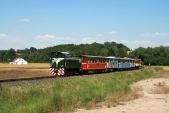 Výletní vlak sTU38.001 příjíždí doBohušova