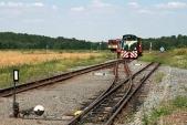 Vjezd namanipulační kolej stanice Slezské Rudoltice