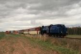 Parní vlak slokomotivou U57.001 meziHorními Povelicemi aAmalínem