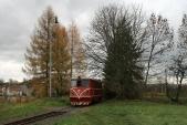 Natrati jsou momentálně přítomny všechny čtyři zdejší TéÚčka řady 705 ČD. Jelikožmá osoblažská remíza pouze tři stání, čtvrtá lokomotiva je odstavena nasamém konci tratě, zadepem. Dnes je takto odstavená neprovozní 705 916.