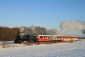 Parní vlak SZD meziAmalínem aHorními Povelicemi
