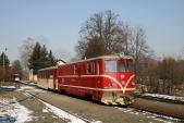 Rekonstruovaná lokomotiva 705913 Českých drah vOsoblaze