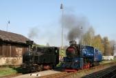 Setkání lokomotiv ČKDD760/90 aŠkoda60Lo(760Ep) vTřemešné veSlezsku