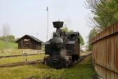Gontkulák posunuje proslužební vagón