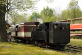 Skládání soupravy zkušebního vlaku