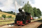 Parní lokomotiva Rešica U46.002 připosunu vTřemešné veSlezsku