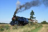 Odjezd parního vlaku zeSlezských Rudoltic