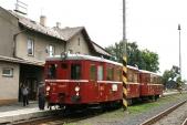 Spojení zKrnova bylo již tradičně zajištěno zvláštním vlakem taženým Hurvínkem M131.1454