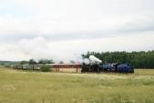Parní vlak SZD meziHorními Povelicemi aAmalínem