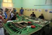 Klub přátel železniční dopravy Ostrava vystavoval vestaniční budově své modelové kolejiště velikosti H0