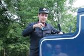 Pojďte ochutnat modrou vodu z modré lokomotivy
