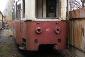 Místo, kde vůz 666 postával poslední léta - kolej 3u v Třemešné ve Slezsku.