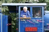 Bohuslav Bordovský se svou U57.001 před poslední jízdou do Třemešné ve Slezsku