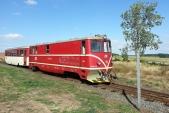 Také zaměstnanci ČD se s Bohouškem rozloučili. Křižující vlak Os 20608 byl náležitě ozdoben.