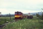 705 916 přijíždí do Slezských Rudoltic, 30.5.1997