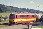 705 916 čeká na odjezd z Třemešné ve Slezsku, 11.9.1997