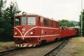 705 916 v čele historicky prvního turistického vlaky 1. parní úzkorozchodné společnosti - dnešních SZD. Na konci soupravy jí asistoval motorový vůz M21.004 z Čierného Balogu, Liptaň 26.6.2004