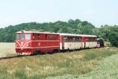 Na Den dráhy došlo k poruše stroje 705 916 na trati a zpět do Osoblahy byl odtažen Faurem TU38.001, který měl ten den na trati svou premiéru, Bohušov, 24.6.2006