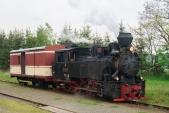 """Parní lokomotiva U46.002 """"Rešica"""" v Liptani"""
