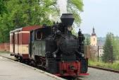 """Parní lokomotiva U46.002 """"Rešica"""" v Třemešné ve Slezsku"""