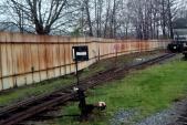Stav koleje 3u (u plotu) před opravou byl nevyhovující a kolej byla dlouhodobě vyloučena