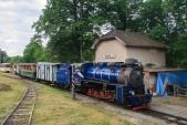 Lokomotiva U57.001, Pivní vagón a jeden výletní vůz. Takto vypadala letošní expozice v Třemešné při Slezské muzejní noci