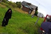 Strašidla byla k vidění i ve strašidelně vyhlížející zastávce Horní Povelice.