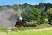 Parní vlak s lokomotivou U46.002 mezi Osoblahou a Bohušovem.