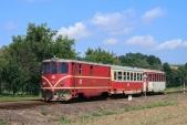 Osobní vlak ČD vjíždí do Bohušova.