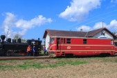 Křižování v Bohušově s lokomotivami U46.002 a 705 913.