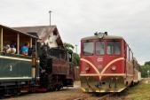 Křižování v Bohušově s lokomotivami U46.002 a 705 913