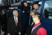 Družný rozhovor lokomotivní čety s prezidentem republiky. Zážitek, na který se nezapomíná.